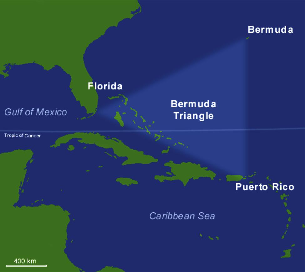 Bermuda Triangle Mystery Town USA - Bermuda map usa